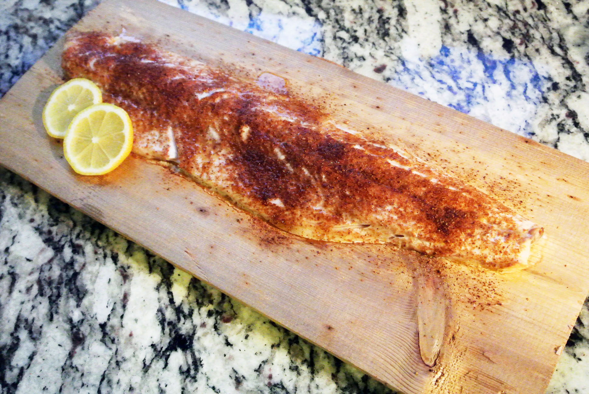 Planked Great Lakes Whitefish Recipe