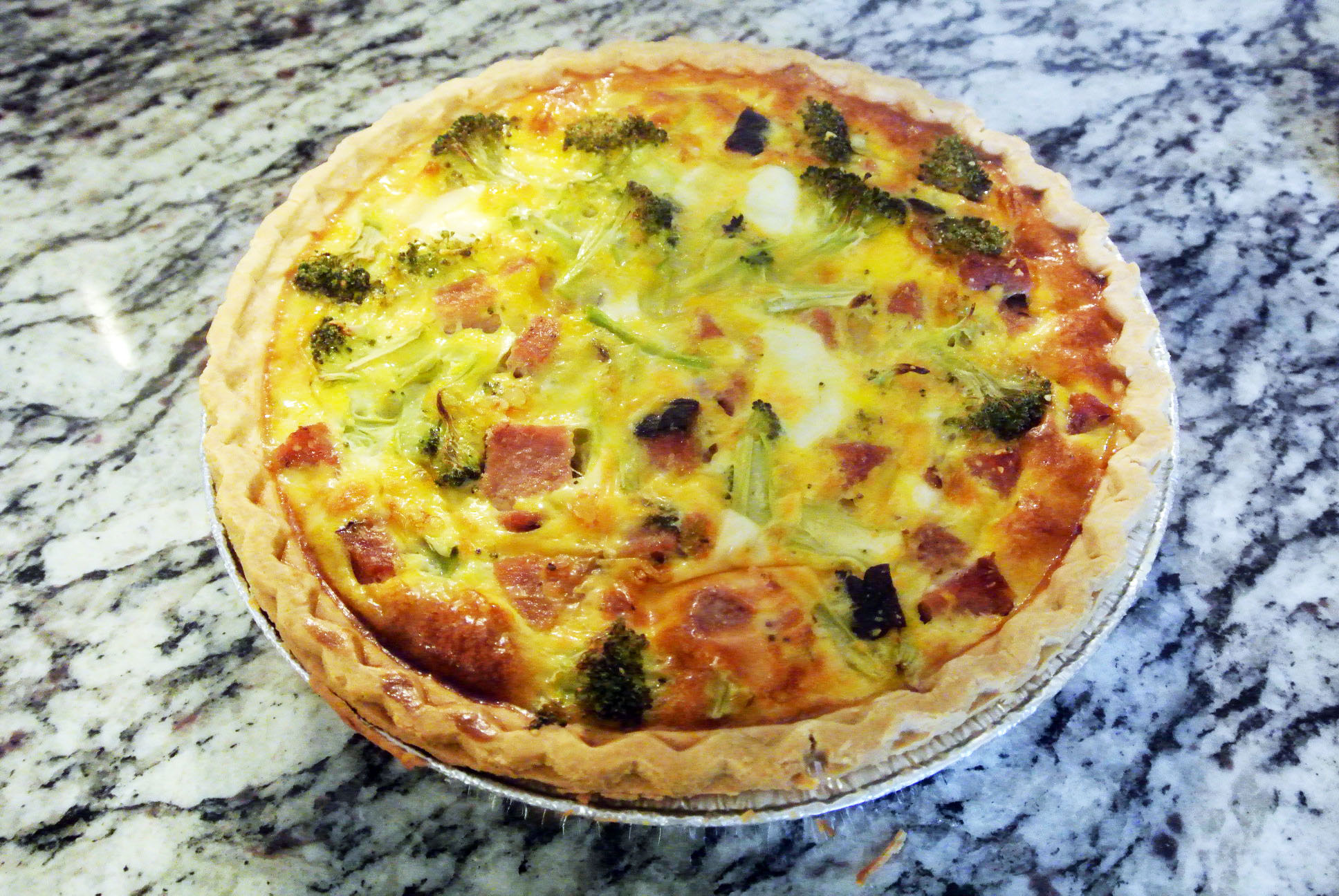 GF DF SF Ham and Broccoli Quiche