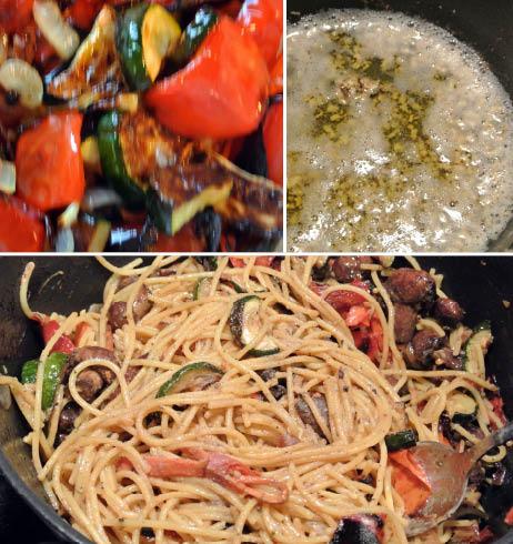 GF Pasta Primavera with Garlic Butter Sauce and Veggies