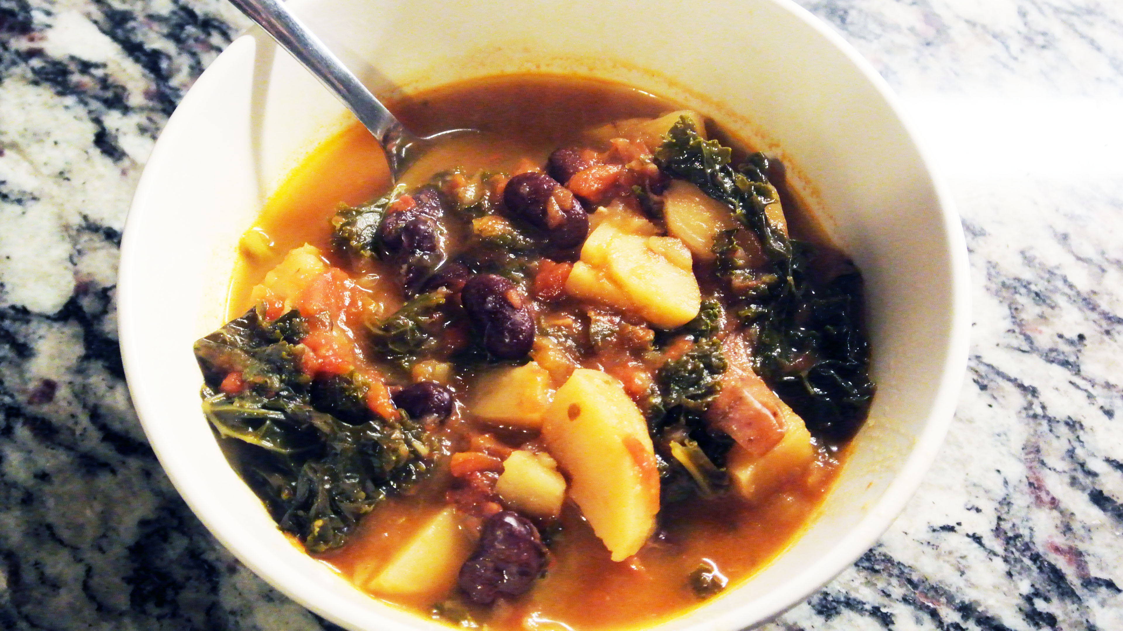 Portuguese Kale and Chorizo Soup Slow Cooker Recipe