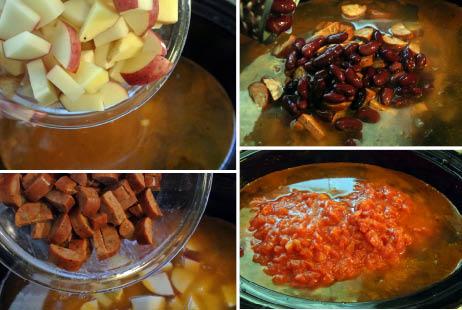 GF SF Portuguese Kale Soup Recipe - Slow Cooker Steps