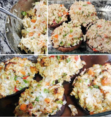 Crab Stuffed Portabellas GF SF DF NF EF Recipe