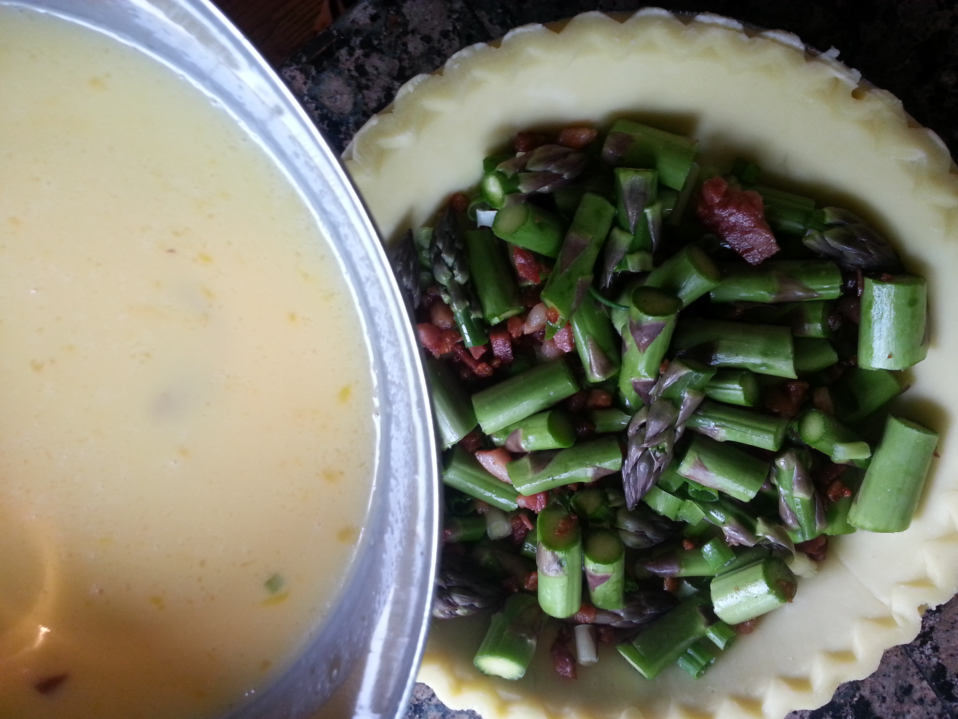 Asparagus and Pancetta Quiche - Gluten free, Dairy Free, Soy Free, Nut Free Recipe