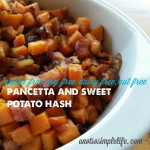 Sweet Potato and Pancetta Hash;  Gluten Free,  Soy Free, Dairy Free, Nut Free Recipe