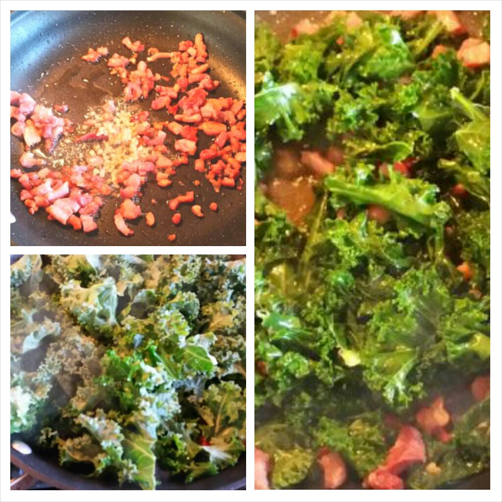 Garlicky Kale with Pancetta, gluten free, dairy free, soy free, nut free recipe