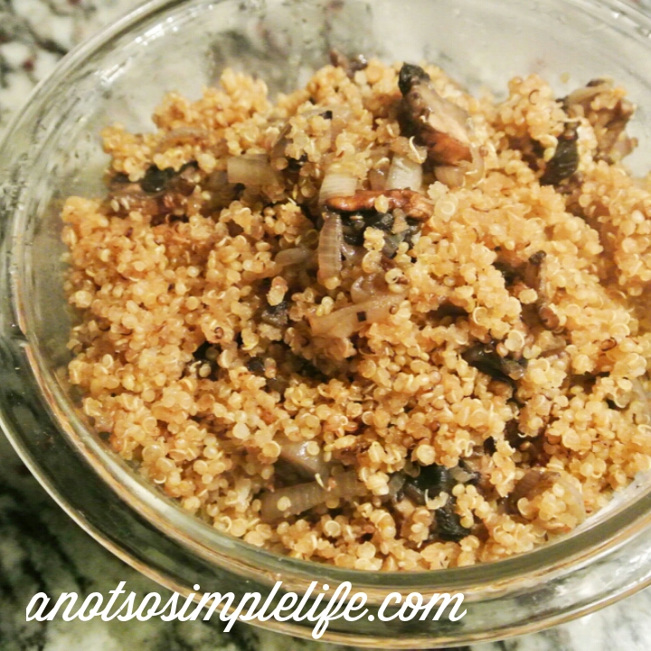 Quinoa Pilaf with Mushrooms and Shallots; Gluten Free, Dairy Free, Soy Free, Nut Free, Egg Free, Yeast Free, Vegan Recipe