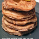 Apple Fritter Pancakes with Cinnamon; Gluten Free, Dairy Free, Soy Free, Nut Free Recipe