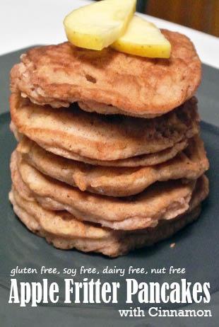GF Apple Fritter Pancakes, gluten free, dairy free, soy free, ut free, recipe