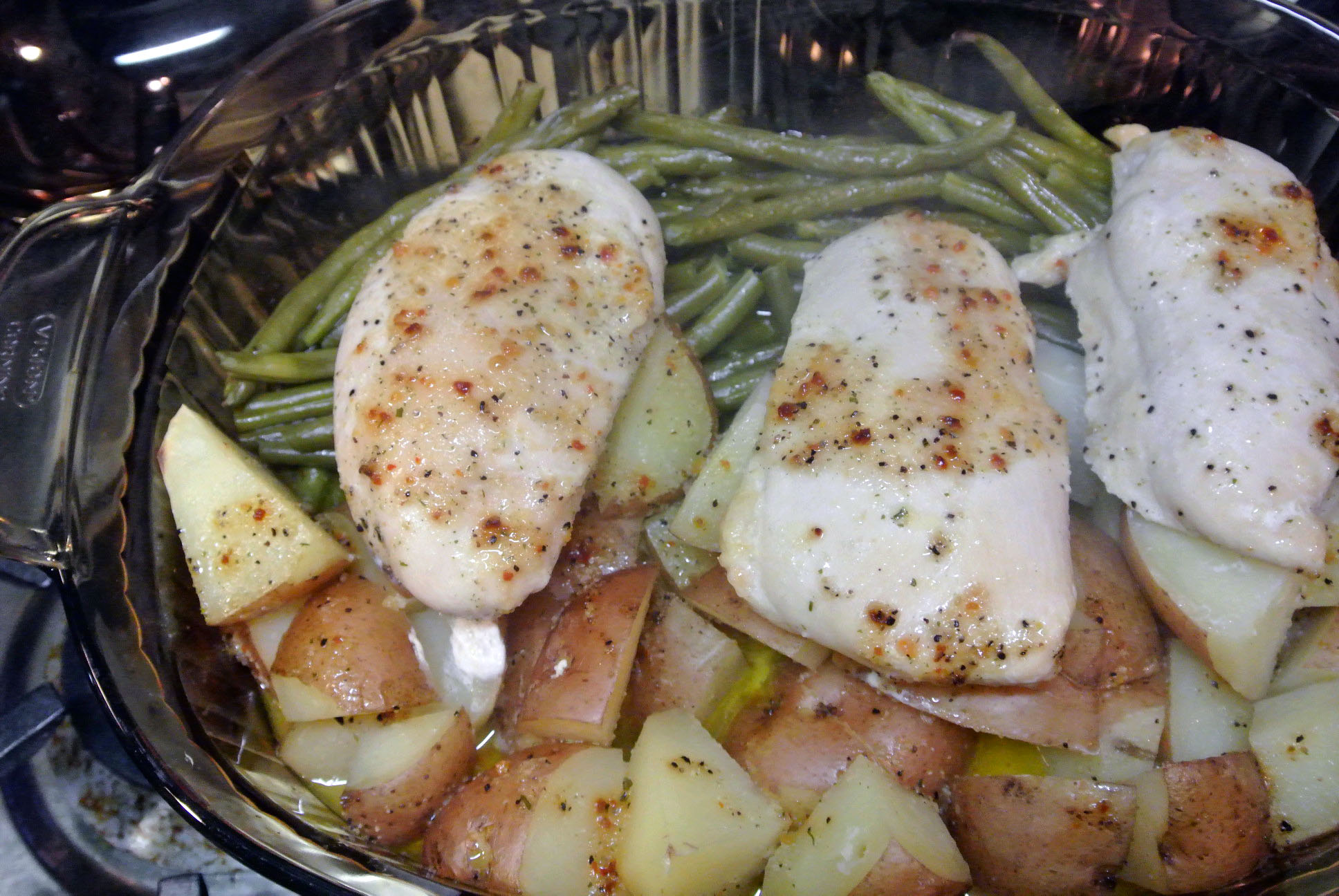 Italian Chicken with Green Beans and Potatoes