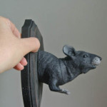 Halloween DIY: Taxidermy Rat Wall Hanging