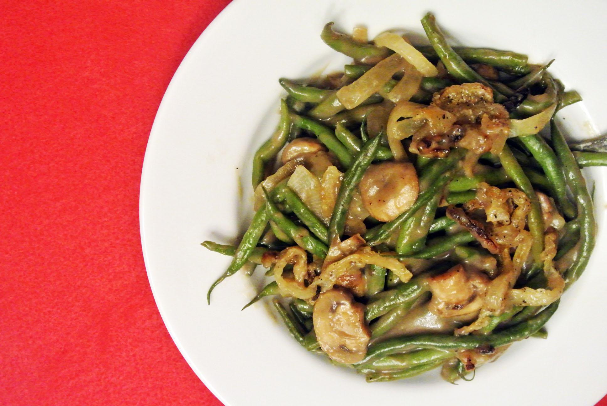 Green Bean Casserole; gluten free, dairy free, soy free nut free, corn free recipe