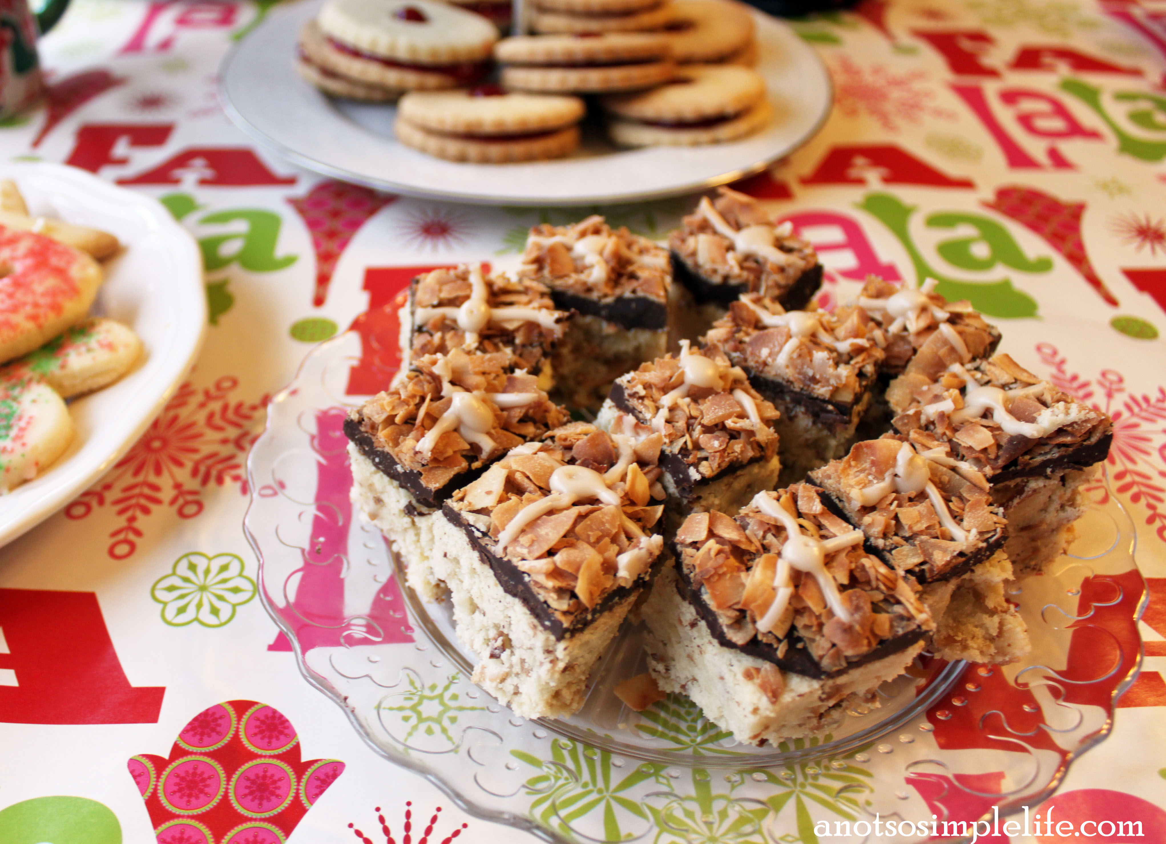 Toasted Coconut Shortbread; Gluten Free, Dairy Free, Soy Free, Nut Free, Egg Free Recipe