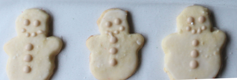 Lemon Sugar Cookie Snowmen 1