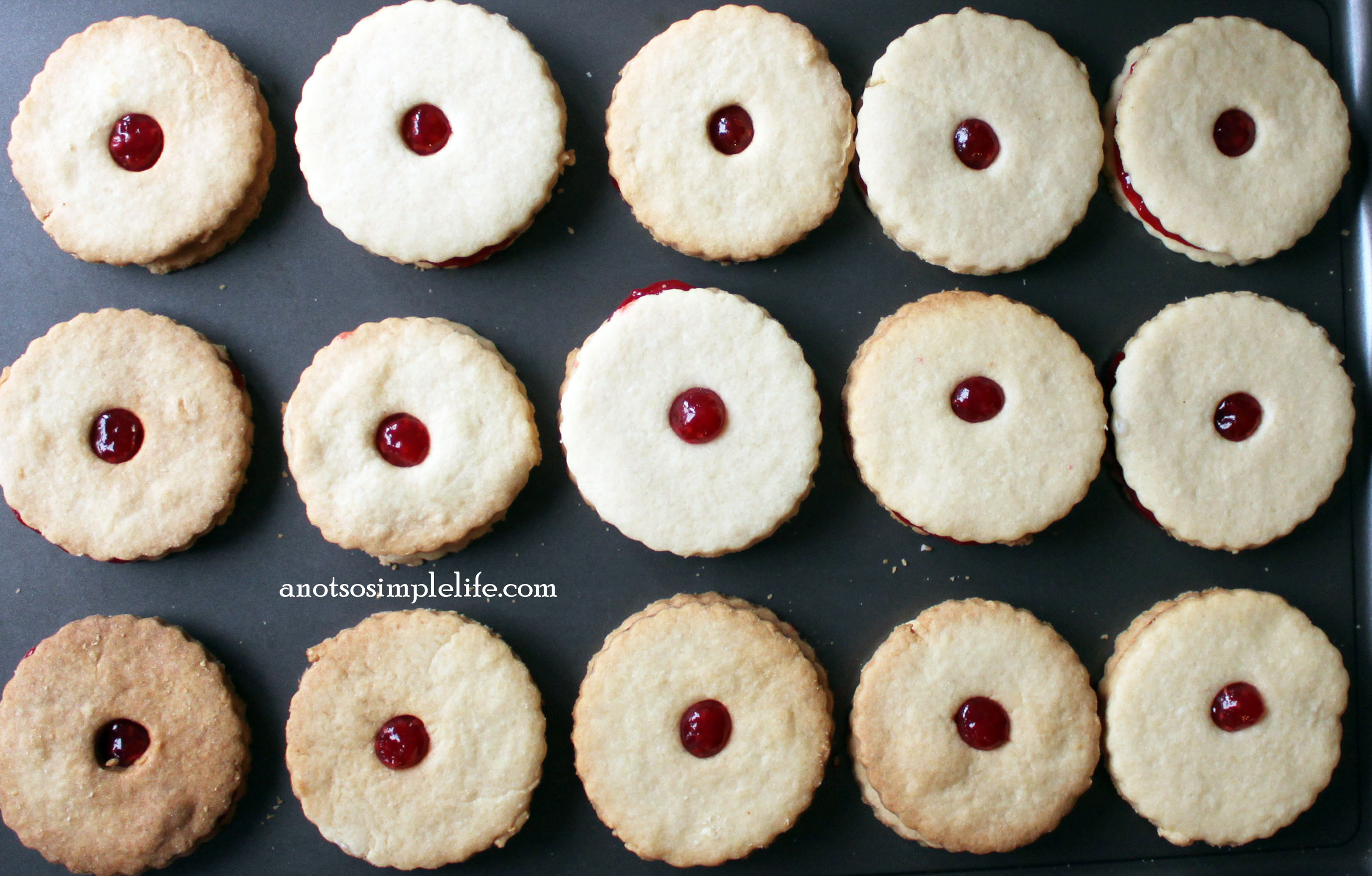 Raspberry Linzers Allergy Friendly Cookies; Gluten Free, Dairy Free, Soy Free, Nut Free, Egg Free Recipe