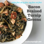 Bacon Braised Turnip Greens