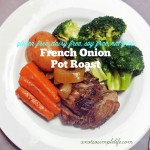 French Onion Pot Roast in the Crock Pot