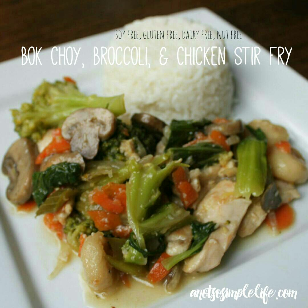 Soy Free Chicken Boy Choy Stir Fry