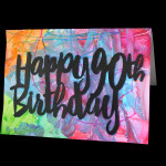 Finger Painted DIY Birthday Card