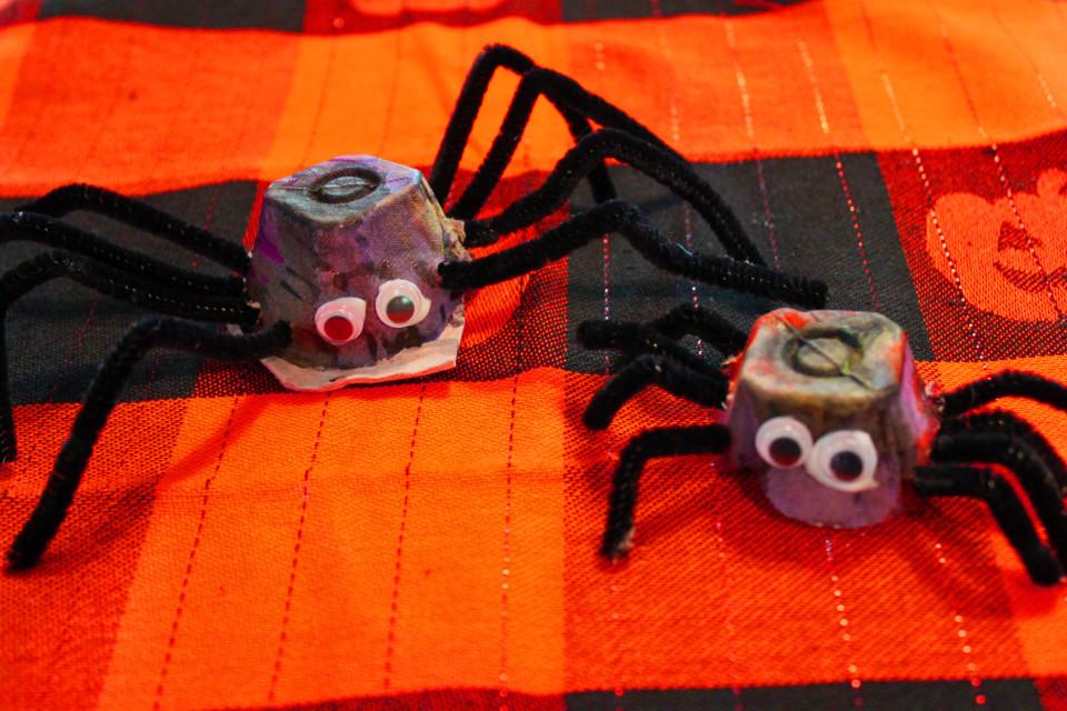 Egg Carton Spiders 1