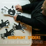 Halloween Craft Day 2: Toddler Activity, Handprint Spiders