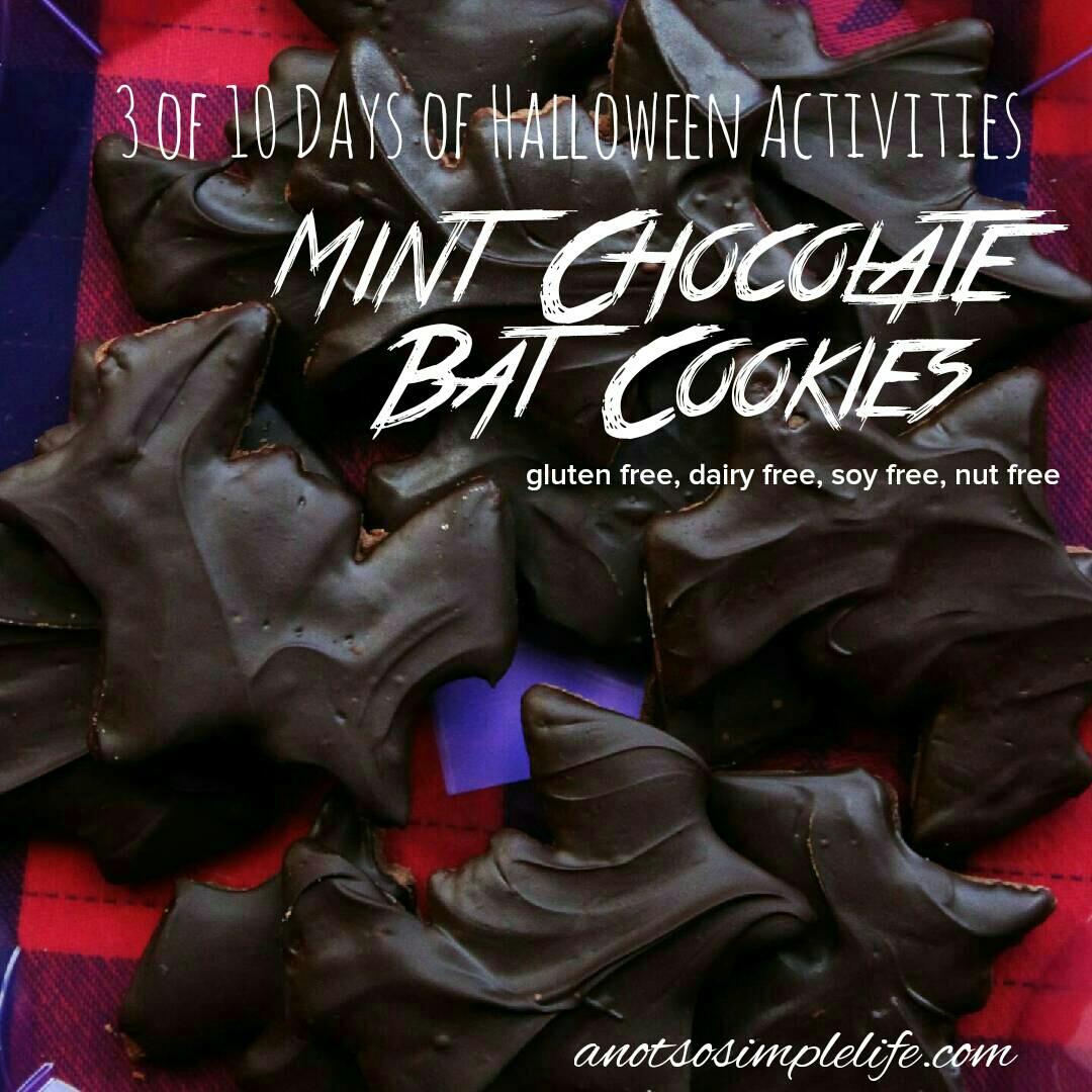 Mint Chocolate Bat Cookies