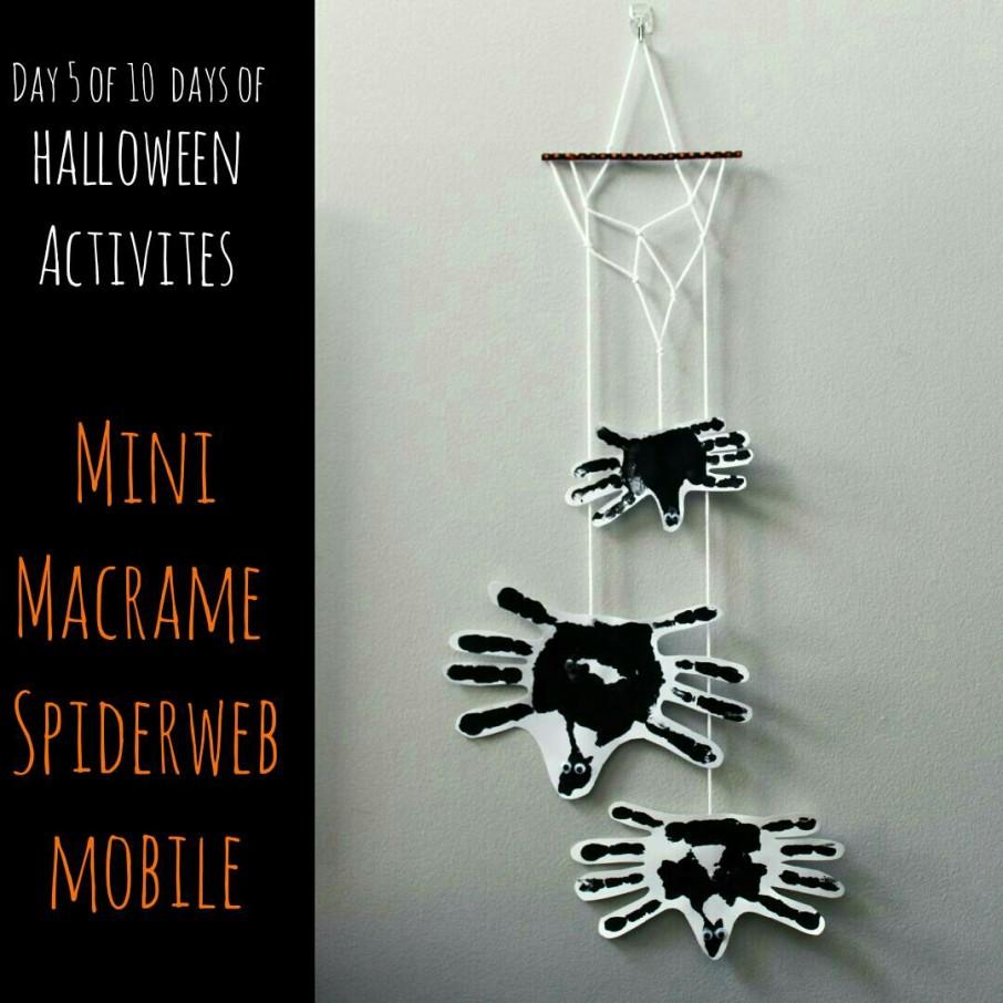 Mini Macrame Spiderweb Mobile