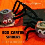 Halloween Activity 8 of 10: Egg Carton Spiders