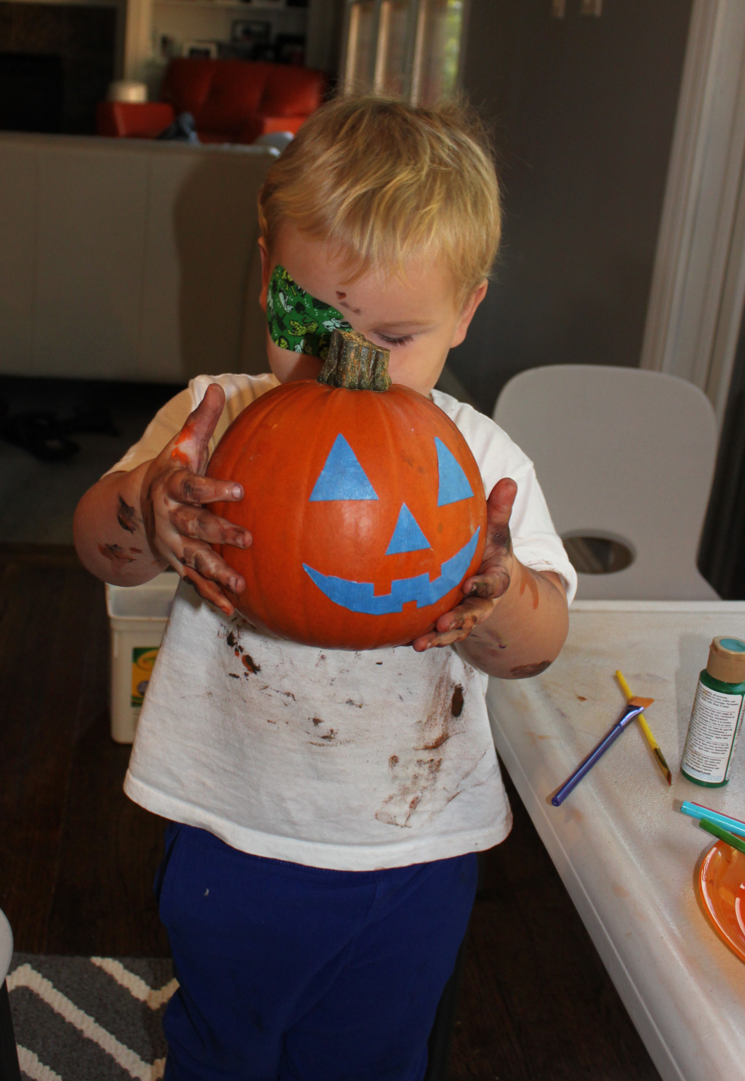 Painters Tape pumpkin 3