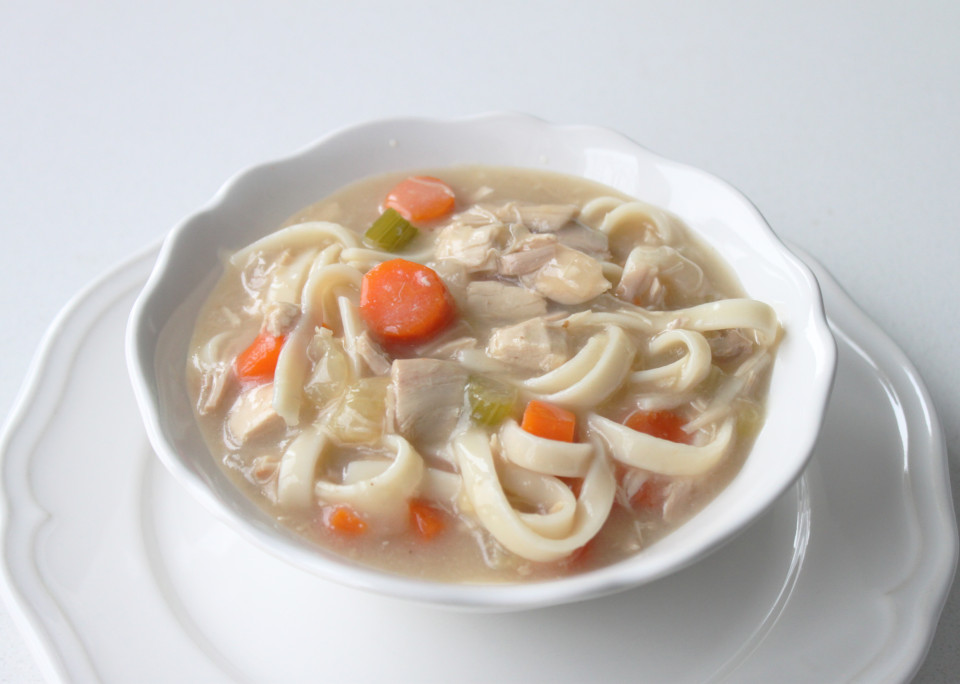 Homemade GF Chicken Noodle Soup