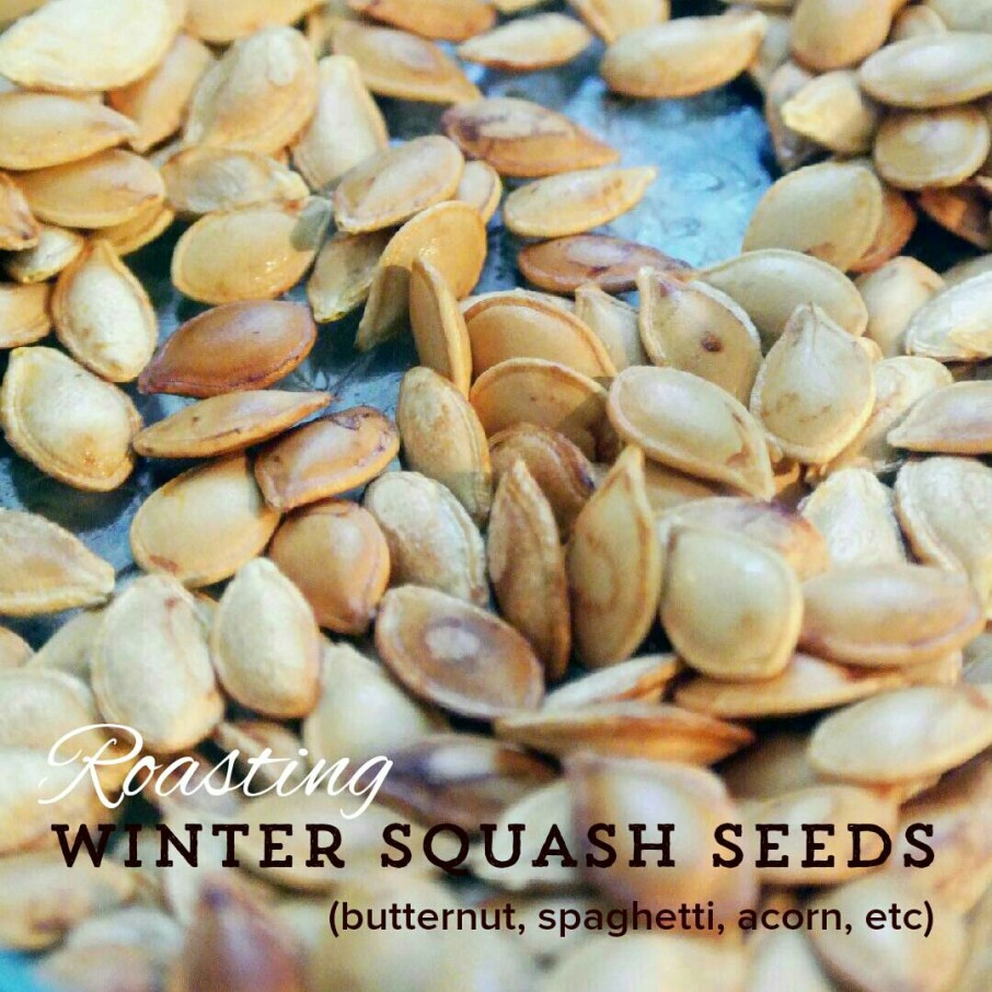 Roasting squash seeds
