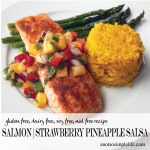 Caribbean Salmon with Fresh Strawberry, Pineapple Salsa; Gluten Free, Dairy Free, Soy Free, Nut Free