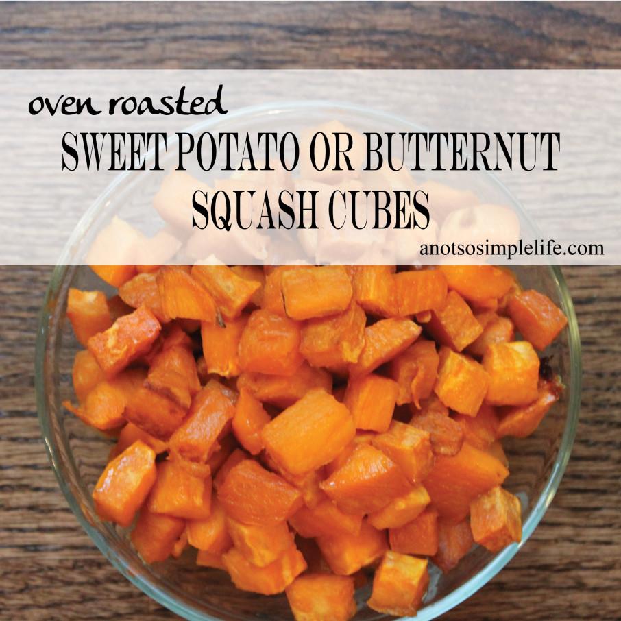 Roast Sweet Potato Cubes