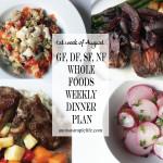 1st Week of August GF, DF, SF, NF Whole Foods Meal Plan